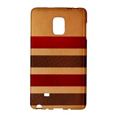 Vintage Striped Polka Dot Red Brown Galaxy Note Edge by Mariart