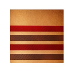 Vintage Striped Polka Dot Red Brown Small Satin Scarf (square) by Mariart