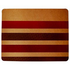 Vintage Striped Polka Dot Red Brown Jigsaw Puzzle Photo Stand (rectangular) by Mariart