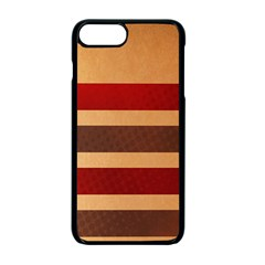 Vintage Striped Polka Dot Red Brown Apple Iphone 7 Plus Seamless Case (black) by Mariart