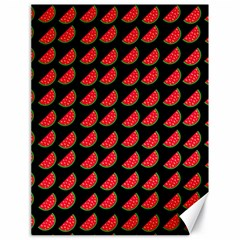 Watermelon Slice Red Black Fruite Canvas 18  X 24   by Mariart