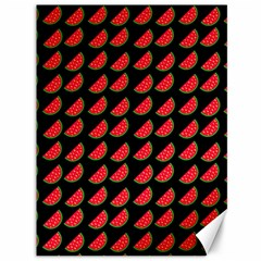 Watermelon Slice Red Black Fruite Canvas 36  X 48   by Mariart