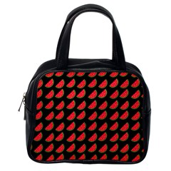 Watermelon Slice Red Black Fruite Classic Handbags (one Side) by Mariart