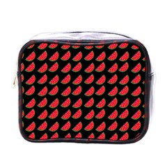 Watermelon Slice Red Black Fruite Mini Toiletries Bags by Mariart
