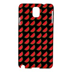 Watermelon Slice Red Black Fruite Samsung Galaxy Note 3 N9005 Hardshell Case by Mariart