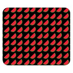 Watermelon Slice Red Black Fruite Double Sided Flano Blanket (small)  by Mariart