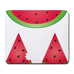 Watermelon Slice Red Green Fruite Large Mousepads by Mariart
