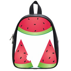 Watermelon Slice Red Green Fruite School Bags (small)  by Mariart