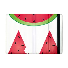 Watermelon Slice Red Green Fruite Apple Ipad Mini Flip Case by Mariart