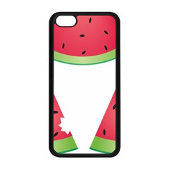 Watermelon Slice Red Green Fruite Apple Iphone 5c Seamless Case (black) by Mariart
