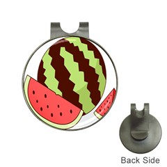 Watermelon Slice Red Green Fruite Circle Hat Clips With Golf Markers by Mariart