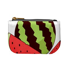 Watermelon Slice Red Green Fruite Circle Mini Coin Purses