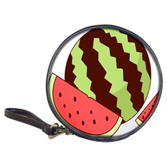 Watermelon Slice Red Green Fruite Circle Classic 20 Cd Wallets by Mariart