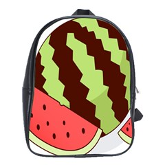 Watermelon Slice Red Green Fruite Circle School Bags(large)