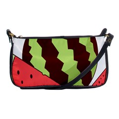 Watermelon Slice Red Green Fruite Circle Shoulder Clutch Bags by Mariart