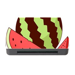Watermelon Slice Red Green Fruite Circle Memory Card Reader With Cf by Mariart