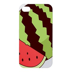 Watermelon Slice Red Green Fruite Circle Apple Iphone 4/4s Premium Hardshell Case by Mariart
