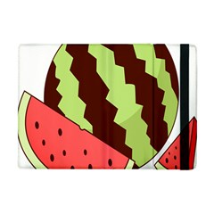 Watermelon Slice Red Green Fruite Circle Apple Ipad Mini Flip Case by Mariart