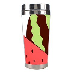 Watermelon Slice Red Green Fruite Circle Stainless Steel Travel Tumblers by Mariart