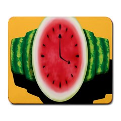 Watermelon Slice Red Orange Green Black Fruite Time Large Mousepads by Mariart