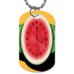 Watermelon Slice Red Orange Green Black Fruite Time Dog Tag (two Sides)