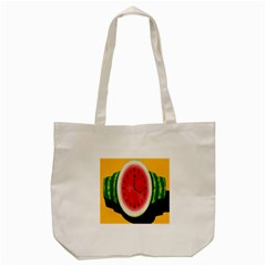 Watermelon Slice Red Orange Green Black Fruite Time Tote Bag (cream) by Mariart