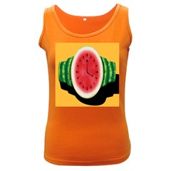 Watermelon Slice Red Orange Green Black Fruite Time Women s Dark Tank Top by Mariart