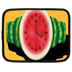 Watermelon Slice Red Orange Green Black Fruite Time Netbook Case (large) by Mariart