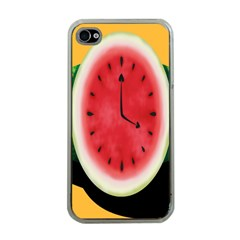 Watermelon Slice Red Orange Green Black Fruite Time Apple Iphone 4 Case (clear) by Mariart