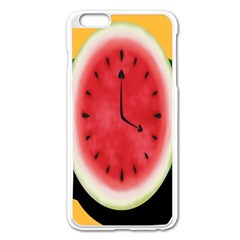 Watermelon Slice Red Orange Green Black Fruite Time Apple Iphone 6 Plus/6s Plus Enamel White Case by Mariart