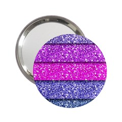 Violet Girly Glitter Pink Blue 2 25  Handbag Mirrors by Mariart