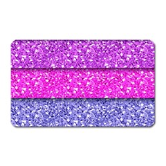 Violet Girly Glitter Pink Blue Magnet (rectangular)