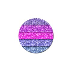 Violet Girly Glitter Pink Blue Golf Ball Marker (4 Pack) by Mariart