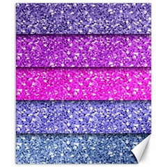 Violet Girly Glitter Pink Blue Canvas 8  X 10  by Mariart