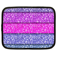 Violet Girly Glitter Pink Blue Netbook Case (xl)  by Mariart
