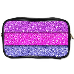 Violet Girly Glitter Pink Blue Toiletries Bags