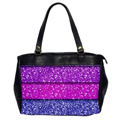 Violet Girly Glitter Pink Blue Office Handbags by Mariart