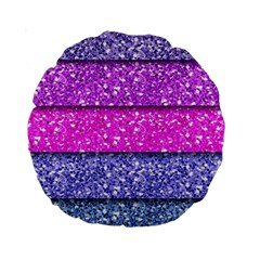 Violet Girly Glitter Pink Blue Standard 15  Premium Round Cushions by Mariart