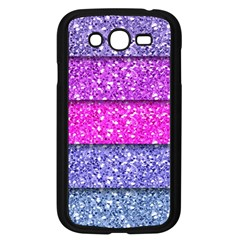 Violet Girly Glitter Pink Blue Samsung Galaxy Grand Duos I9082 Case (black) by Mariart