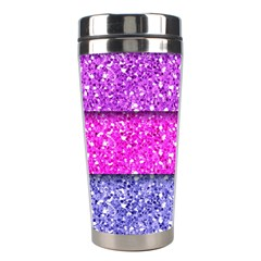 Violet Girly Glitter Pink Blue Stainless Steel Travel Tumblers by Mariart