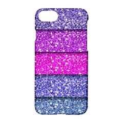 Violet Girly Glitter Pink Blue Apple Iphone 7 Hardshell Case by Mariart