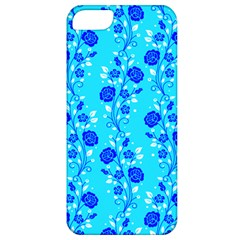 Vertical Floral Rose Flower Blue Apple Iphone 5 Classic Hardshell Case by Mariart