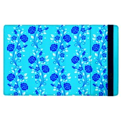 Vertical Floral Rose Flower Blue Apple Ipad 2 Flip Case by Mariart