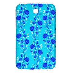 Vertical Floral Rose Flower Blue Samsung Galaxy Tab 3 (7 ) P3200 Hardshell Case  by Mariart