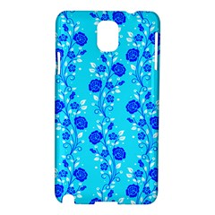 Vertical Floral Rose Flower Blue Samsung Galaxy Note 3 N9005 Hardshell Case by Mariart