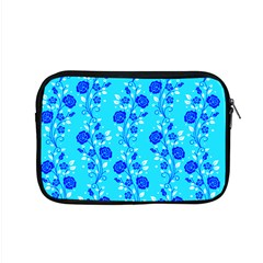 Vertical Floral Rose Flower Blue Apple Macbook Pro 15  Zipper Case by Mariart