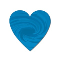 Whirlpool Hole Wave Blue Waves Sea Heart Magnet by Mariart