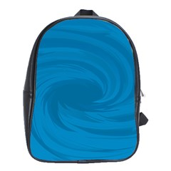 Whirlpool Hole Wave Blue Waves Sea School Bags(large)  by Mariart