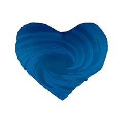 Whirlpool Hole Wave Blue Waves Sea Standard 16  Premium Heart Shape Cushions by Mariart