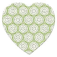 Wood Star Green Circle Jigsaw Puzzle (heart) by Mariart